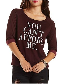 cant-afford-me-graphic-sweatshirt by charlotte-russe
