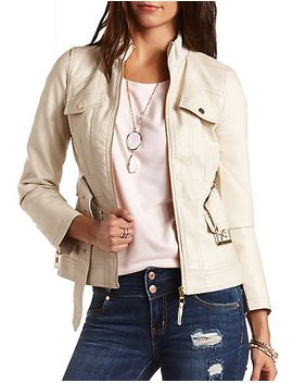 faux-leather-cropped-trench-coat by charlotte-russe
