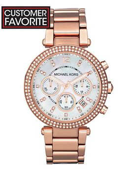 womens-chronograph-parker-rose-gold-tone-stainless-steel-bracelet-watch-39mm-mk5491 by michael-kors