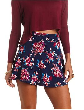 high-waisted-floral-print-skater-skirt by charlotte-russe