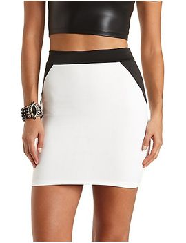 color-block-bodycon-skirt by charlotte-russe