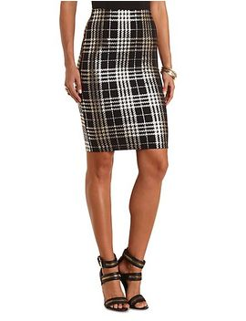 metallic-plaid-midi-skirt by charlotte-russe