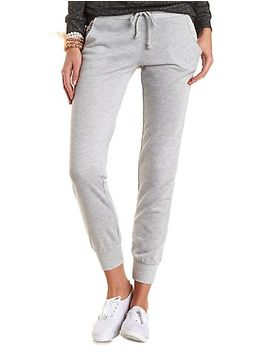 crochet-pocket-french-terry-jogger-pants by charlotte-russe