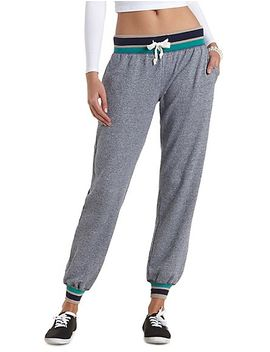 sporty-striped-jogger-sweatpants by charlotte-russe