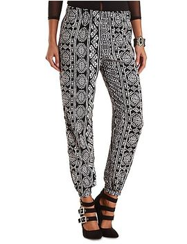 tribal-print-jogger-pants by charlotte-russe