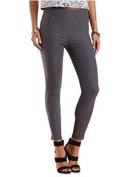 high-waisted-skinny-trousers by charlotte-russe