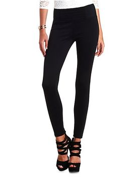 stretchy-high-waisted-skinny-pants by charlotte-russe