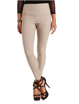stacked-waist-high-rise-skinny-pants by charlotte-russe
