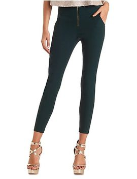 zip-up-high-waisted-skinny-pants by charlotte-russe