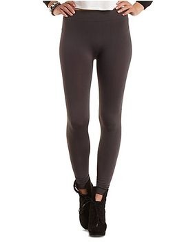 high-waisted-fleece-lined-leggings by charlotte-russe