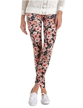cotton-floral-printed-leggings by charlotte-russe