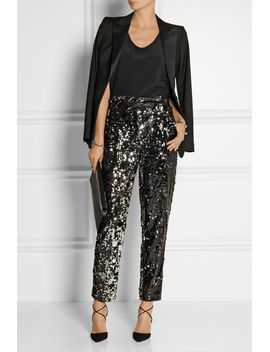 sequined-tulle-straight-leg-pants by milly