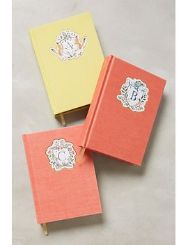 monogram-crest-journal by anthropologie