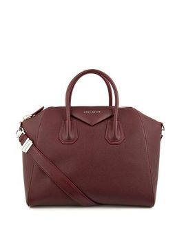 antigona-medium-leather-tote-(216055) by givenchy