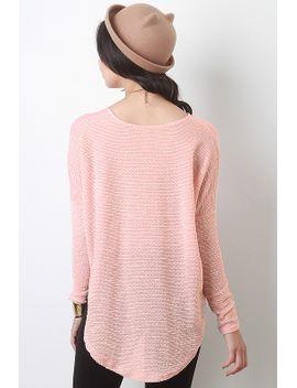 crochet-knit-high-low-top by urbanog