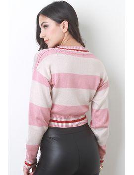 striped-knit-crop-sweater by urbanog