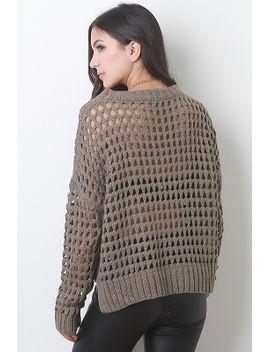 eyelet-knit-sweater by urbanog