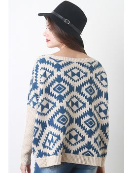diamond-tribal-knit-sweater by urbanog