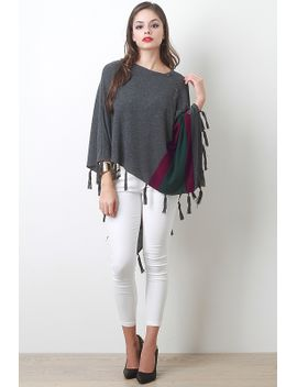button-striped-poncho-top by urbanog