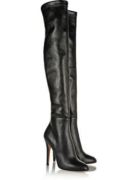 turner-stretch-leather-thigh-boots by jimmy-choo