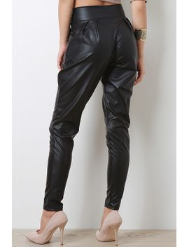 solid-leatherette-pants by urbanog