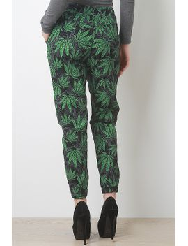cannabis-printed-pants by urbanog