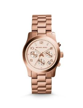 rose-gold-tone-stainless-steel-chronograph-runway-watch by michael-kors