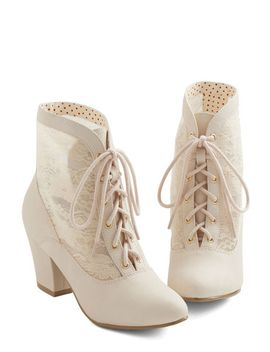 lace-against-time-bootie-in-cream by modcloth