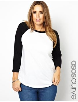 asos-curve-top-with-raglan-sleeve by asos-curve
