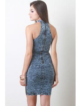 denim-plus-leatherette-dress by urbanog
