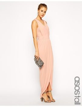 asos-tall-exclusive--wrap-front-maxi-dress by asos