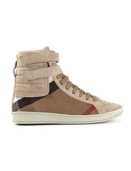 house-check-hi-top-sneakers by burberry-brit