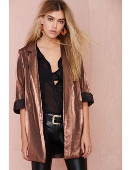donatella-metallic-blazer---bronze by nasty-gal