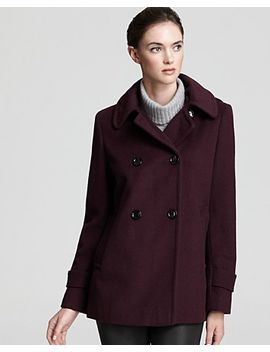 double-breasted-pea-coat-with-hood by calvin-klein