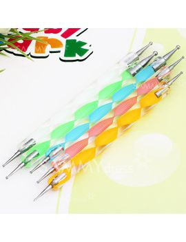 5pcs-nail-art-tool-dotting-painting-transparent-plastic-marbleizing-pen-for-beauty by sammy-dress