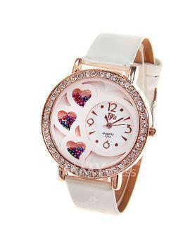 womens-watch-with-rhinestone-decoration-quartz-analog-dial-leather-watchband-(white) by sammy-dress