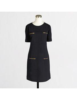 factory-zipper-ponte-dress by jcrew