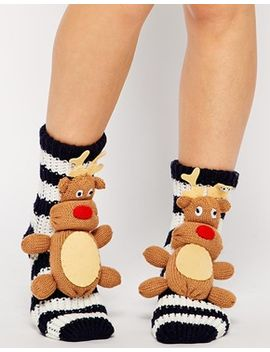 asos-north-star-reindeer-socks by asos-collection