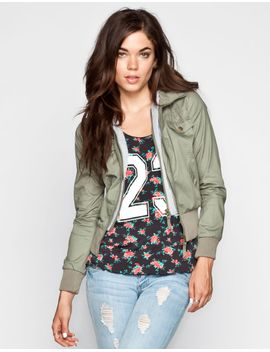ashley-fleece-hood-womens-twill-jacket by tillys