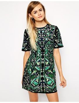 asos-premium-embroidered-shift-dress by asos-collection