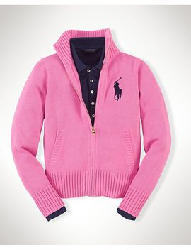 zip-big-pony-cotton-cardigan by ralph-lauren