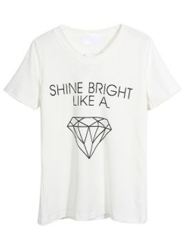 white-shine-bright-like--a-diamond-pattern-t-shirt by choies