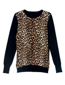 black-knit-sweater-with-leopard-pattern by choies