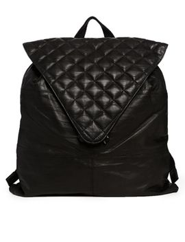 asos-leather-backpack-with-quilted-flap by asos-collection