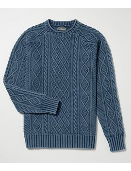 signature-rollneck-fisherman-sweater,-washed by llbean