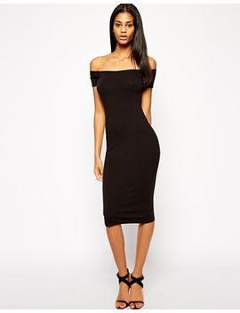 asos-midi-bardot-body-conscious-dress by asos-collection