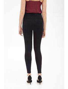 tonal-topstitched-leggings by forever-21