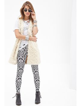 damask-print-leggings by forever-21