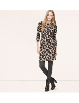 ivy-jacquard-sweater-dress by loft