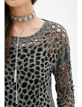 beaded-cutout-top by forever-21
